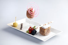Delicious desert Stock Images
