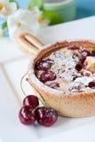 Delicious dessert. Delicious cherry clafoutis dessert with fresh cherries Stock Image