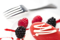 Delicious dessert with berries Royalty Free Stock Photography