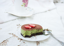 Delicious dessert - cake tiramissu. Royalty Free Stock Images