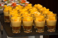 Delicious dessert with mango mousse Stock Image