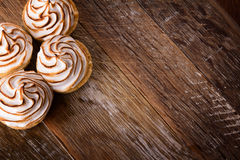 Delicious dessert meringues Stock Photos