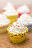 Delicious dessert muffins Royalty Free Stock Photos
