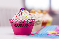 Delicious dessert muffins Royalty Free Stock Photography