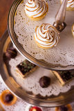 Delicious dessert selection Stock Images