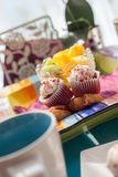 Delicious Dessert Served On Dining Table Royalty Free Stock Photo