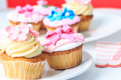 Delicious dessert table for big party Royalty Free Stock Image