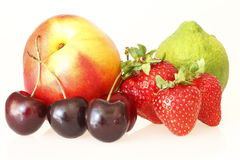 Delicious different fruits Stock Photos