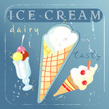 A delicious different ice cream Stock Images