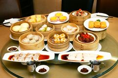Delicious Dim Sum. Oriental Chinese dim sum served at famous hotel stock image