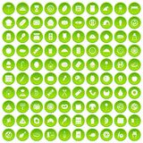 100 delicious dishes icons set green. 100 delicious dishes icons set in green circle isolated on white vectr illustration vector illustration