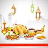 Delicious dishes for Iftar party Stock Image