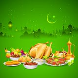Delicious dishes for Iftar party Royalty Free Stock Images