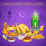 Delicious dishes for Iftar party Stock Images