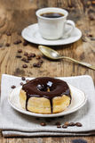 Delicious donut with chocolate Royalty Free Stock Photography
