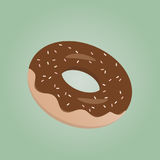 Delicious donut with chocolate glaze Royalty Free Stock Image