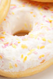 Delicious donut closeup Royalty Free Stock Images