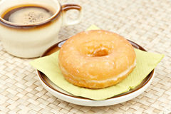 Delicious donut  with coffee Royalty Free Stock Photos