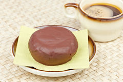 Delicious donut  with coffee Stock Photography