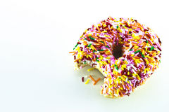 One Bite of Donut Royalty Free Stock Photos