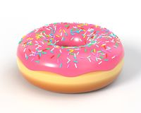 Delicious donut with icing and sprinkles Royalty Free Stock Photo