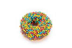 Delicious Donut Isolated on White Background. Donut Isolated on White Background Stock Photography