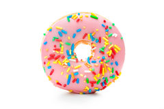 Delicious donut with sprinkles. Donut with sprinkles isolated on white background Royalty Free Stock Photography