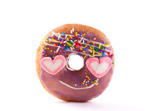 Delicious donut with sprinkles Royalty Free Stock Image
