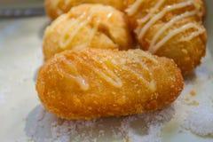 Delicious donuts in box Stock Photo
