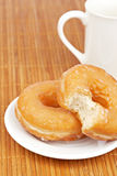 Delicious donuts  with coffee Royalty Free Stock Photography