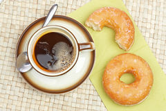 Delicious donuts  with coffee Stock Image