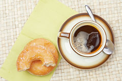 Delicious donuts  with coffee Royalty Free Stock Image