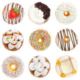 Delicious donuts collage royalty free stock photo