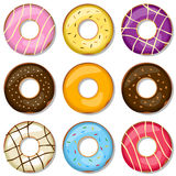 Delicious Donuts Collection vector illustration