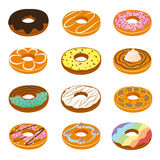Delicious Donuts Collection Royalty Free Stock Photo