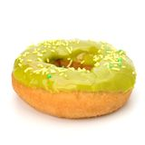 Delicious doughnut isolated on white background Royalty Free Stock Photo