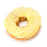Delicious doughnut isolated on white background Stock Photos