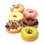 Delicious doughnuts isolated on white background Stock Image