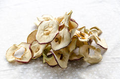 Delicious dried apples. Sof light on delicious dried apples Royalty Free Stock Images
