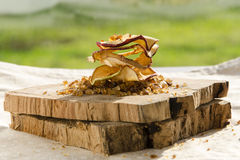 Delicious dried apples. Sof light on delicious dried apples Stock Photography