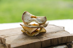 Delicious dried apples. Sof light on delicious dried apples Royalty Free Stock Photography