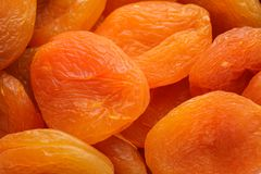Delicious dried apricot fruit as background royalty free stock photos