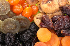 Delicious dried fruits Royalty Free Stock Photos