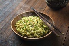 Delicious dried ramen noodles Stock Photo