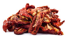 Delicious Dried tomatoes on white background Royalty Free Stock Photo