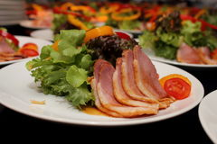 Delicious duck salad  in close up Stock Photos