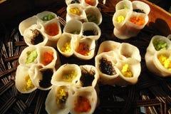 Delicious dumplings stock photos