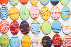 Free Delicious Easter Cookies Background Royalty Free Stock Image - 68683606
