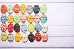 Delicious Easter cookies background stock image