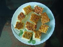 The delicious eastern Indian Sweets dish royalty free stock photography